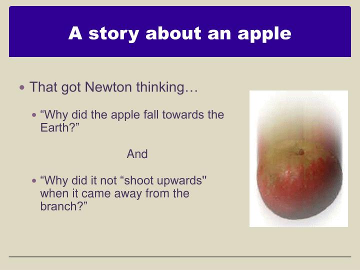 A story about an apple