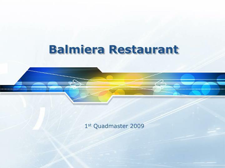 Balmiera Restaurant