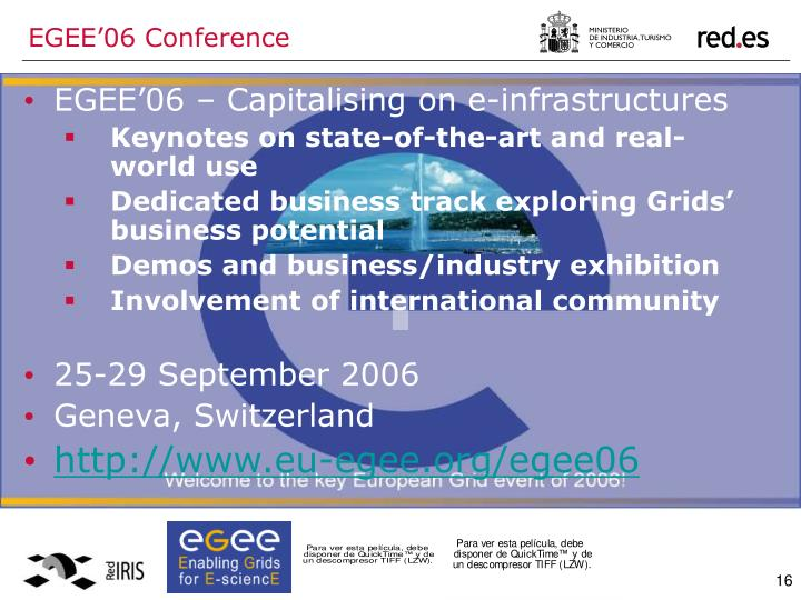 EGEE'06 Conference