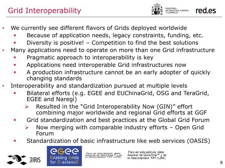 Grid Interoperability
