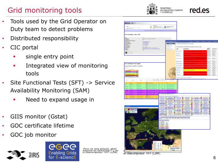 Grid monitoring tools