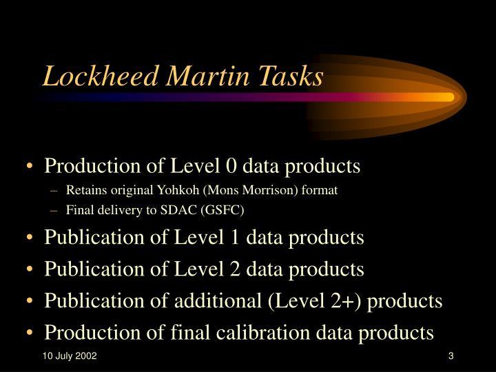 Lockheed Martin Tasks