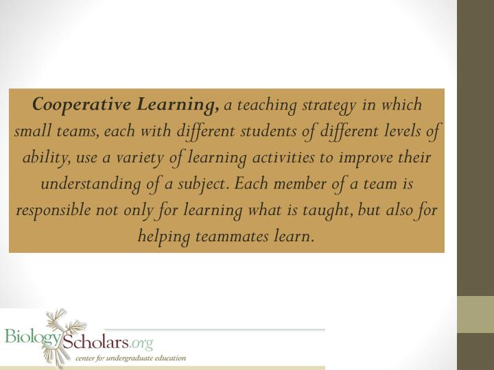 Cooperative Learning,
