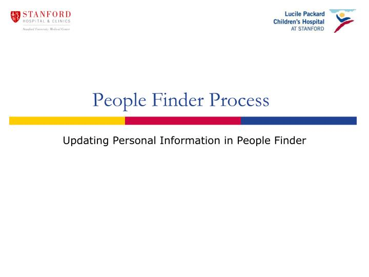 People finder process