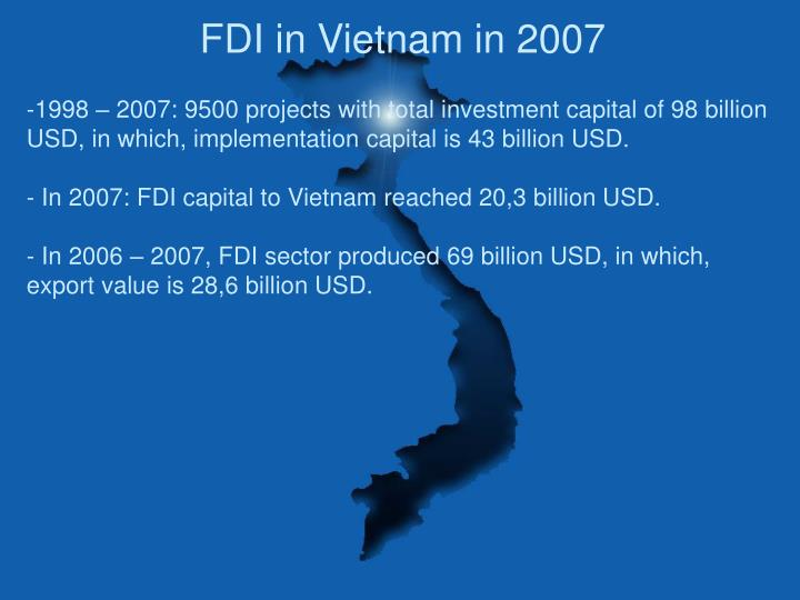 FDI in Vietnam in 2007