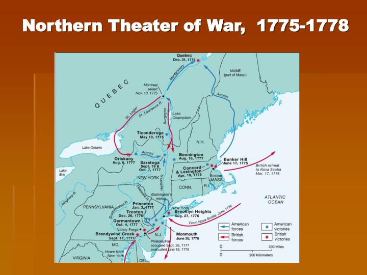 Northern Theater of War,  1775-1778
