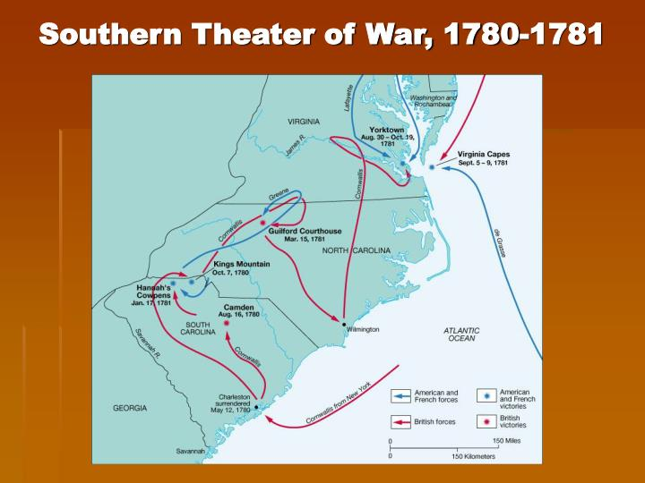 Southern Theater of War, 1780-1781