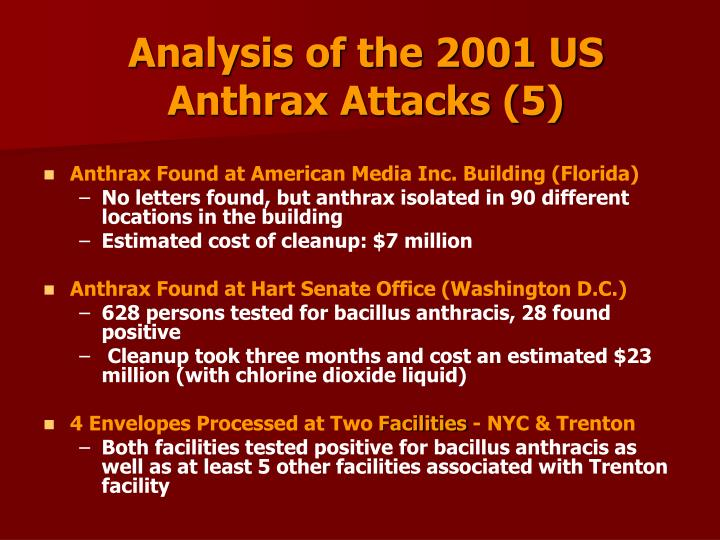 Analysis of the 2001 US Anthrax Attacks (5)
