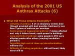 analysis of the 2001 us anthrax attacks 6