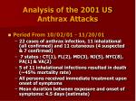analysis of the 2001 us anthrax attacks