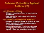 defense protection against anthrax 2