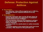 defense protection against anthrax