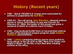 history recent years