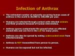 infection of anthrax