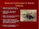 natural outbreaks in north dakota