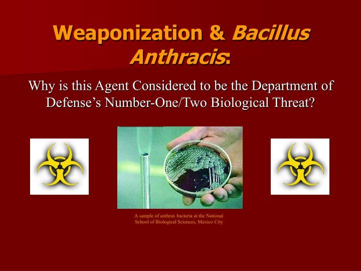 Weaponization &