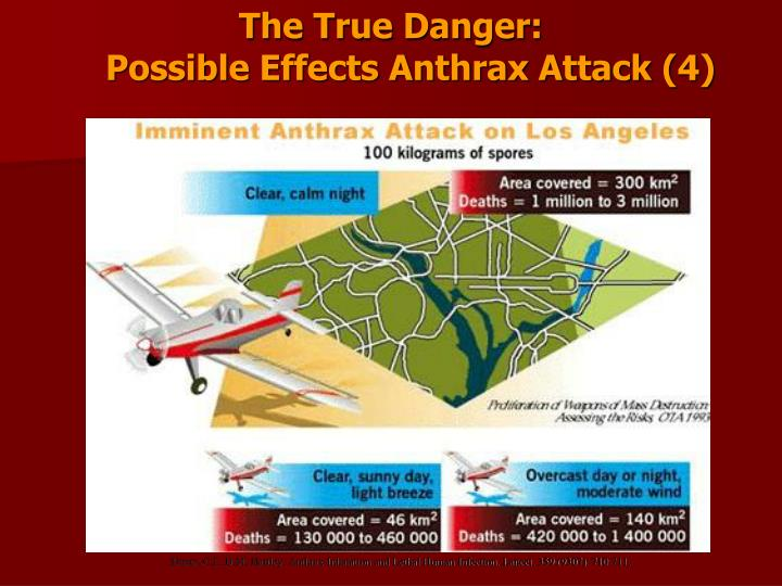 The True Danger:                                          Possible Effects Anthrax Attack (4)