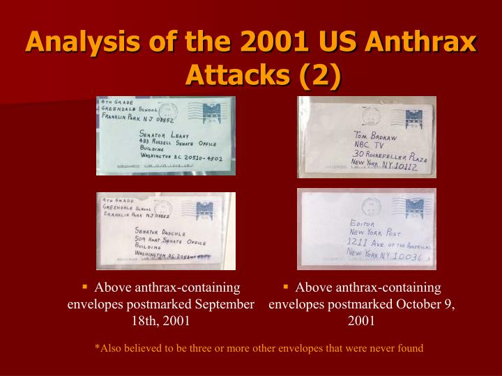 Analysis of the 2001 US Anthrax Attacks (2)