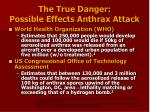 the true danger possible effects anthrax attack