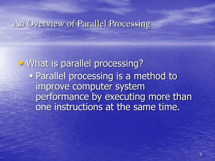 An Overview of Parallel Processing
