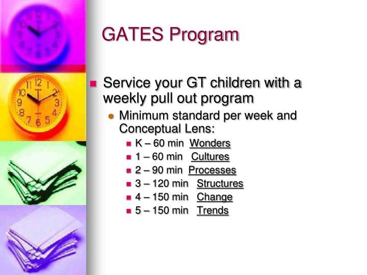 GATES Program