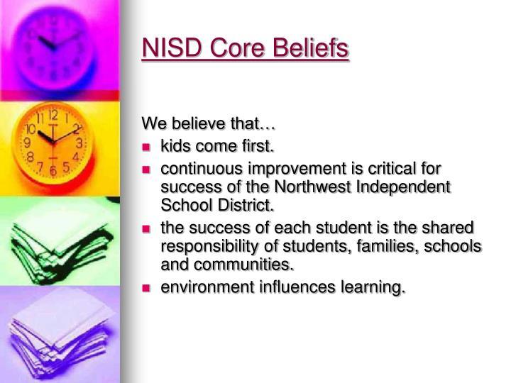NISD Core Beliefs