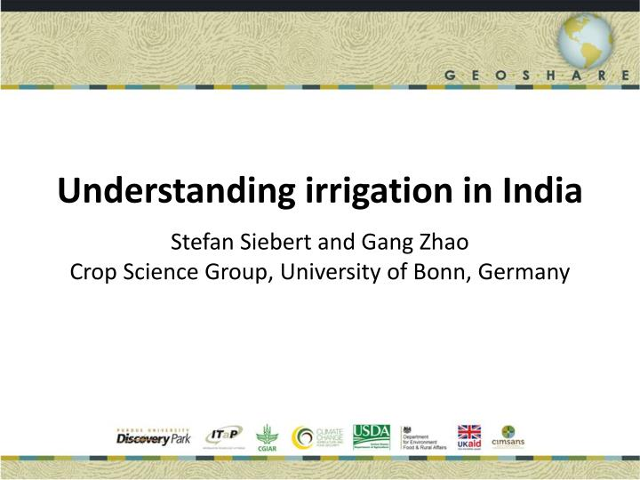 Understanding irrigation in India