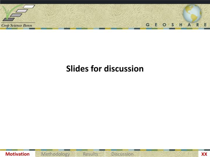 Slides for discussion