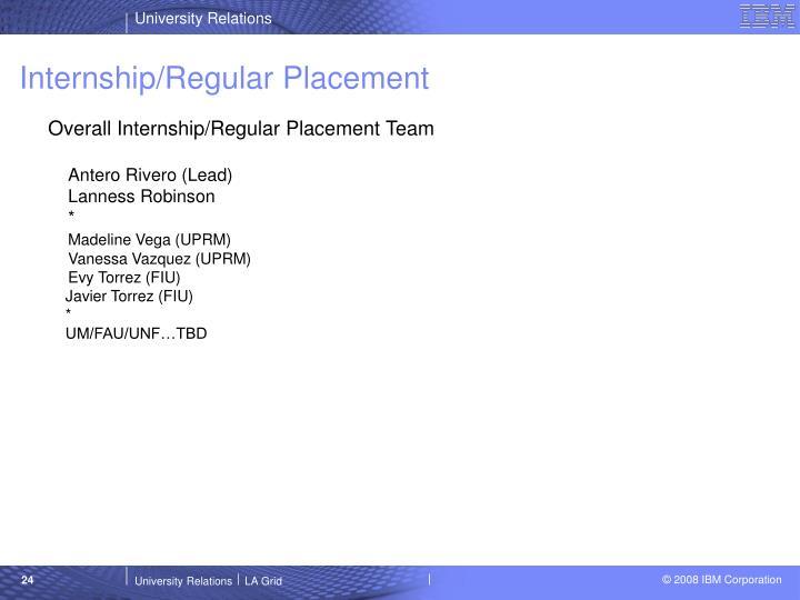 Internship/Regular Placement
