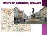 treaty of augsburg germany