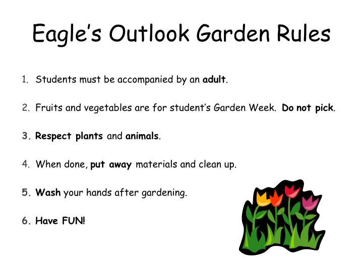 Eagle s outlook garden rules
