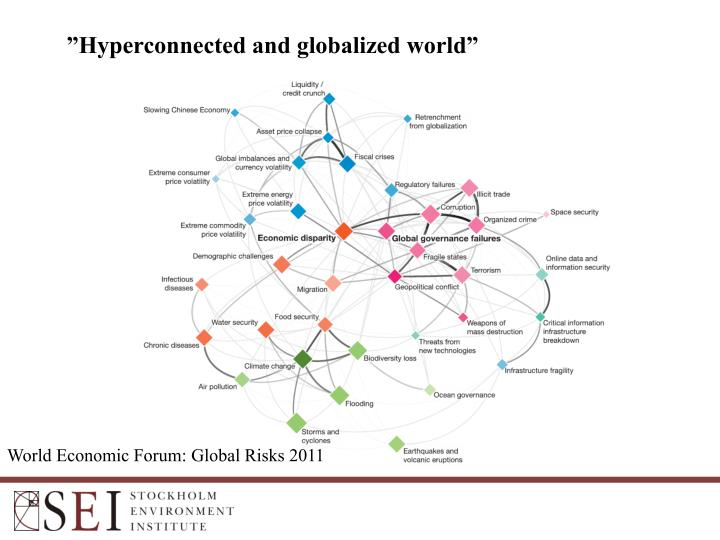 """Hyperconnected and globalized world"""