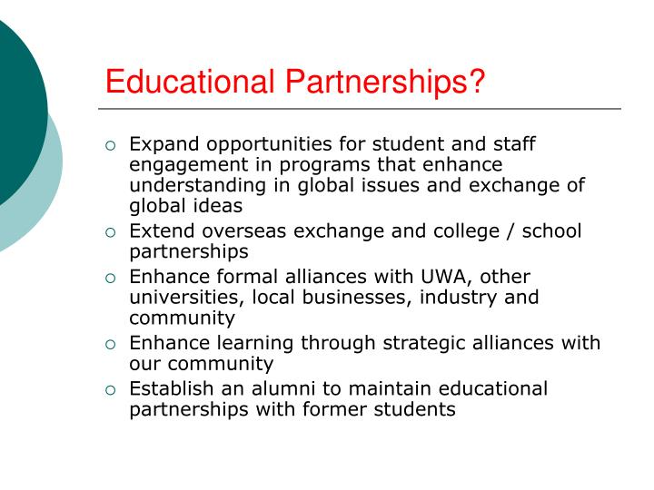 Educational Partnerships?