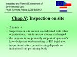 chap v inspection on site