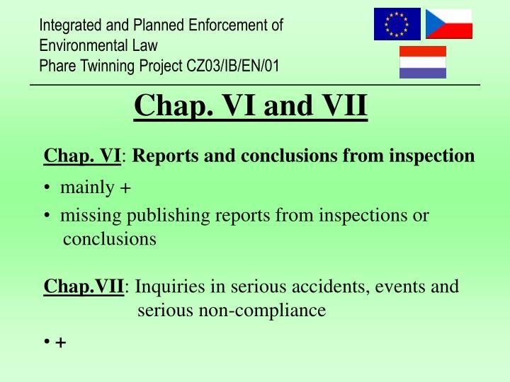 Chap. VI and VII