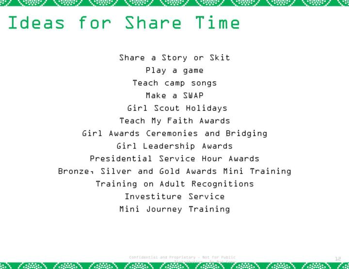 Ideas for Share Time