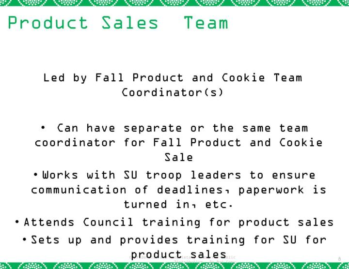 Product Sales  Team