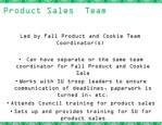 product sales team