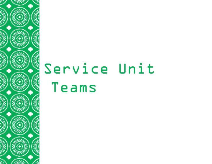 Service Unit Teams