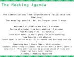the meeting agenda