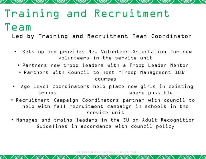 Training and Recruitment  Team
