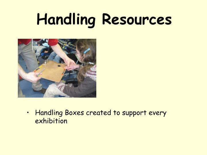 Handling Resources