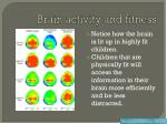 brain activity and fitness