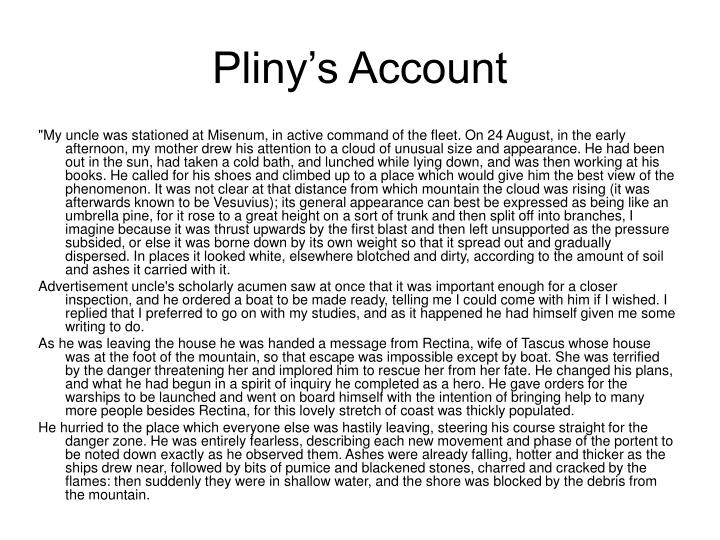 Pliny's Account