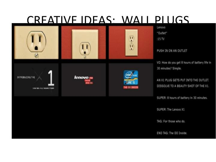 CREATIVE IDEAS:  WALL PLUGS