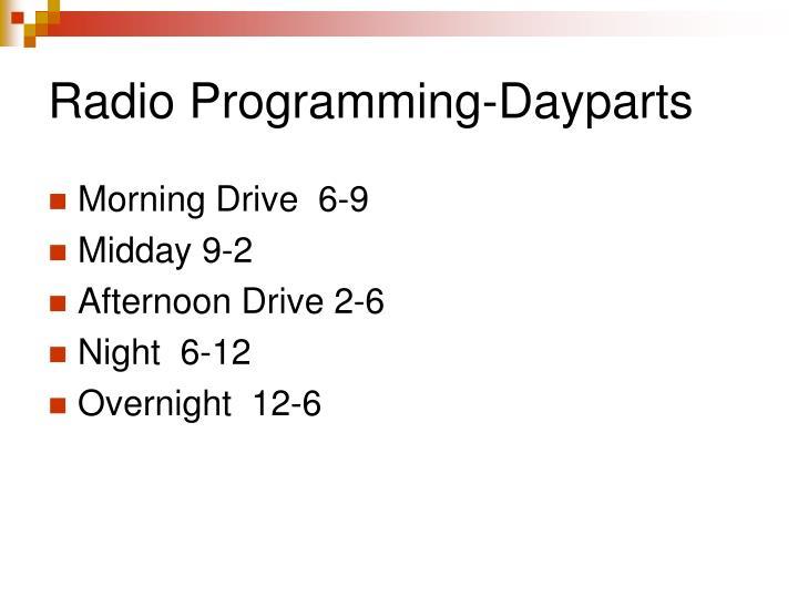 Radio Programming-Dayparts