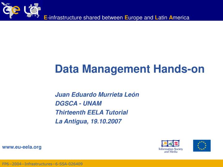 data management hands on
