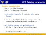 lfc catalog commands1