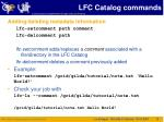 lfc catalog commands3