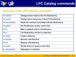 lfc catalog commands5